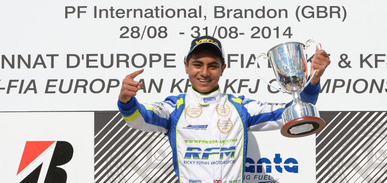 Karting Ace Ahmed  signs for Arden