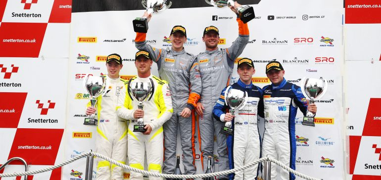 PODIUM FOR HAND IN ONLY SECOND EVER BRITISH GT RACE