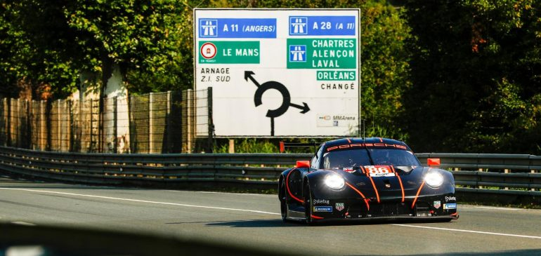 GAMBLE COMPLETES HIS FIRST GRUELLING LEMANS 24 HOURS